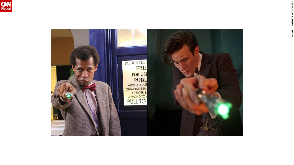 "The current Doctor, the Eleventh portrayed by Matt Smith, is a favorite of <a href=""http://ireport.cnn.com/docs/DOC-1061282"">Matthew Brewer</a>. ""The one from the new series is the one I actually followed from his beginning: the raggedy, bow-tied, tweedy, floppy-haired, childlike, fish finger and custard loving, fez wearing, very curious ... Eleventh Doctor. Since his start in 2010, I really followed his run down to the letter, I even have three Eleventh sonic screwdrivers."""