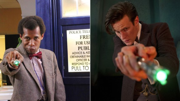 """The current Doctor, the Eleventh portrayed by Matt Smith, is a favorite of Matthew Brewer. """"The one from the new series is the one I actually followed from his beginning: the raggedy, bow-tied, tweedy, floppy-haired, childlike, fish finger and custard loving, fez wearing, very curious ... Eleventh Doctor. Since his start in 2010, I really followed his run down to the letter, I even have three Eleventh sonic screwdrivers."""""""