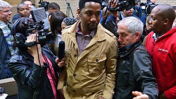 Ndaba Mandela, grandson of Nelson Mandela in the Mthatha high court on July 2, 2013.