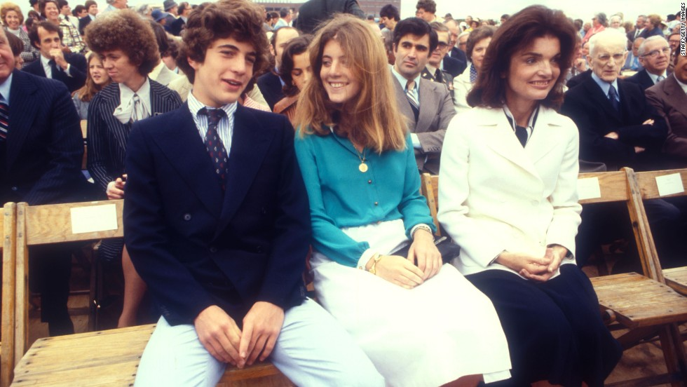 Caroline kennedy fast facts cnn kennedy sits between her brother and mother in 1977 altavistaventures Images