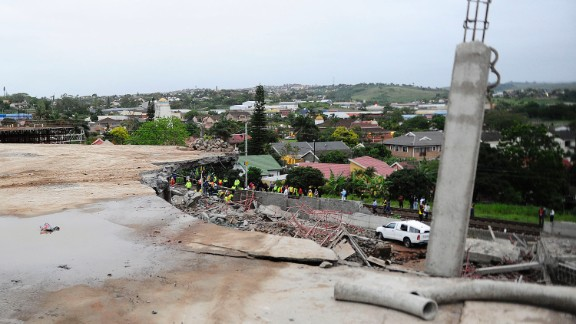 A building in Tongaat, South Africa, collapsed on Tuesday,  November 19, killing at least one person and injuring dozens more. Rescue teams rushed to the scene to help construction workers who were trapped beneath the rubble.
