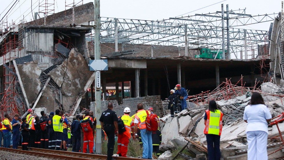 """It's unknown exactly what caused the collapse,"" said Crisis Medical operations director Neil Powell. ""There was a large amount of scaffolding and cement foundation that collapsed on to some of the construction workers."""