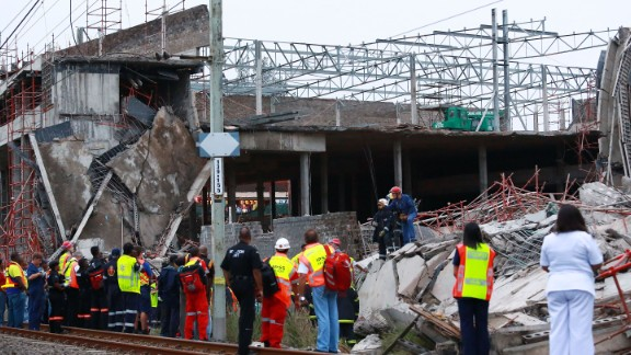 """""""It's unknown exactly what caused the collapse,"""" said Crisis Medical operations director Neil Powell. """"There was a large amount of scaffolding and cement foundation that collapsed on to some of the construction workers."""""""