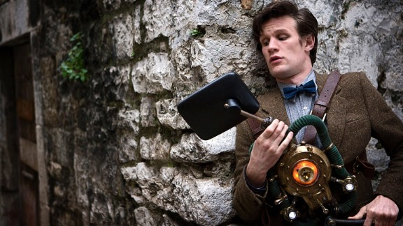 """Matt Smith brought a youthful appearance to the Eleventh Doctor starting in 2010. His penchant for wearing bow ties and fezzes and dancing like a """"drunken giraffe"""" played against the fact that he was determined to save the day, and his companions, no matter what."""