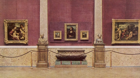 The Mona Lisa appears in the Louvre in 1929. Today, she is the jewel in the museum