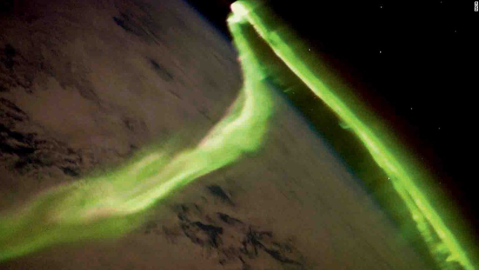 This is the Australian Aurora, a natural light display of the Southern Hemisphere, as seen from the International Space Station.