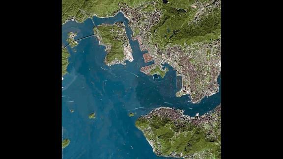 Bay of Hong Kong, China.