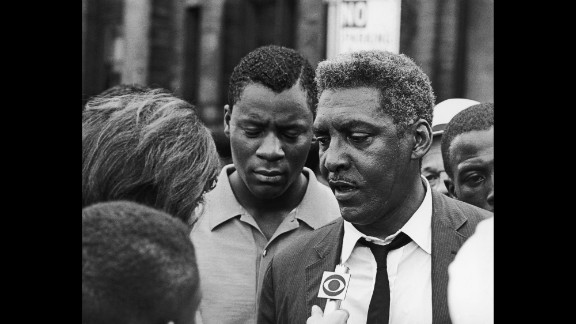 """Bayard Rustin, right, """"was an unyielding activist for civil rights, dignity, and equality for all,"""" according to the White House. Rustin died in 1987."""