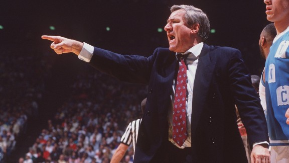 """Dean Smith was the head coach of the University of North Carolina Tar Heels basketball team from 1961 to 1997. During his career, """"ninety-six percent of his players graduated from college,"""" the White House said."""