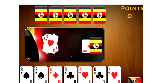 """Matatu"" is a two-player card game by Kola Studios, based on a Ugandan card game."