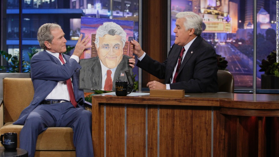"George W. Bush has surprised many by taking up painting in his post-White House years. ""I am a painter,"" the 43rd President told Jay Leno on ""The Tonight Show."" ""You may not think I'm a painter; I think I'm a painter."""