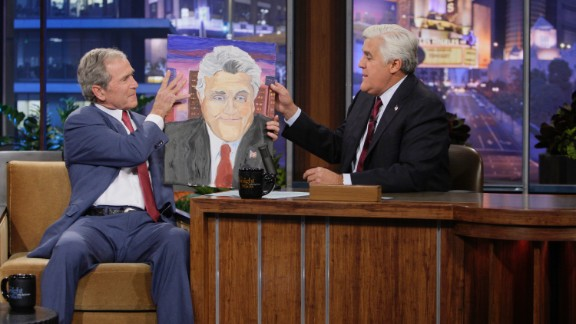 """George W. Bush has surprised many by taking up painting in his post-White House years. """"I am a painter,"""" the 43rd President told Jay Leno on """"The Tonight Show."""" """"You may not think I'm a painter; I think I'm a painter."""""""
