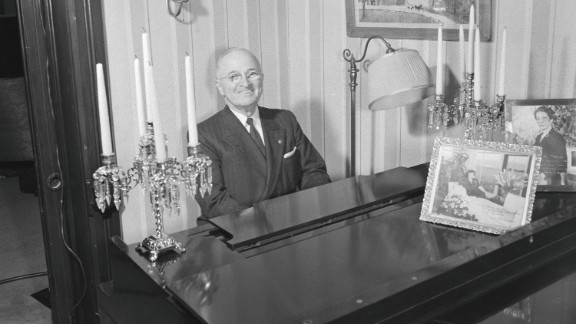Harry S. Truman always loved to play the piano. His mother was his first piano teacher.