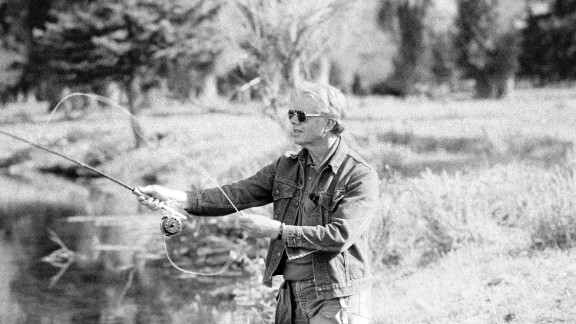 Jimmy Carter and his wife, Rosalynn, began fly fishing in Georgia in the early 1970s. Here, the 39th President fishes in Wyoming in 1978.