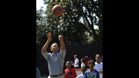 Barack Obama, the 44th president, is known to enjoy exercising -- so much so that he has released several workout music playlists over the years. What's his favorite athletic activity? Basketball, in addition to regularly playing golf.
