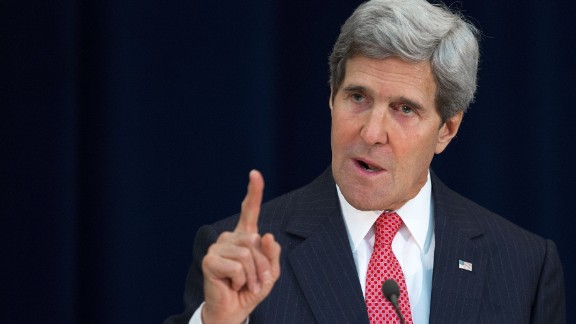 US Secretary of State John Kerry speaks on November 20, 2013.