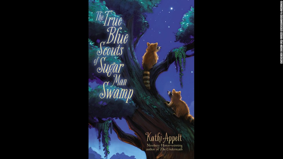 "<strong>Young people's literature: </strong>Kathi Appelt, ""<a href=""http://www.nationalbook.org/nba2013_ypl_appelt.html#.Uo1-142vWL0"" target=""_blank"">The True Blue Scouts of Sugar Man Swamp</a>"""