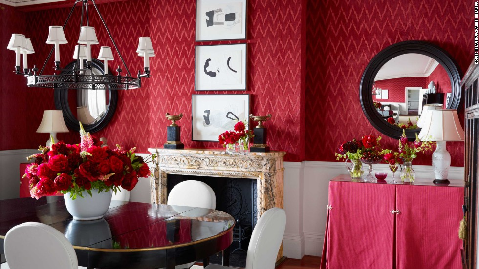 House Beautiful Editor Shax Riegler Says Red Is The Most Popular Color For  A Dining Room