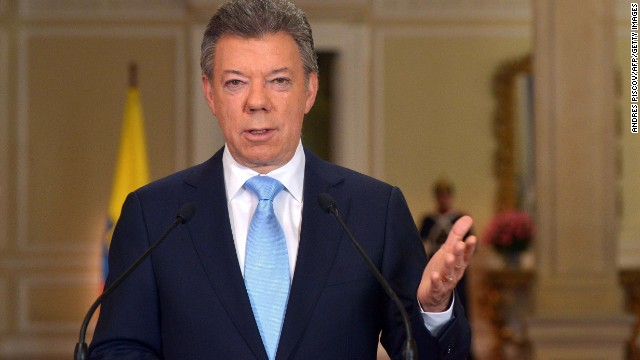 Colombian President Juan Manuel Santos announced that he will seek re-election next year.