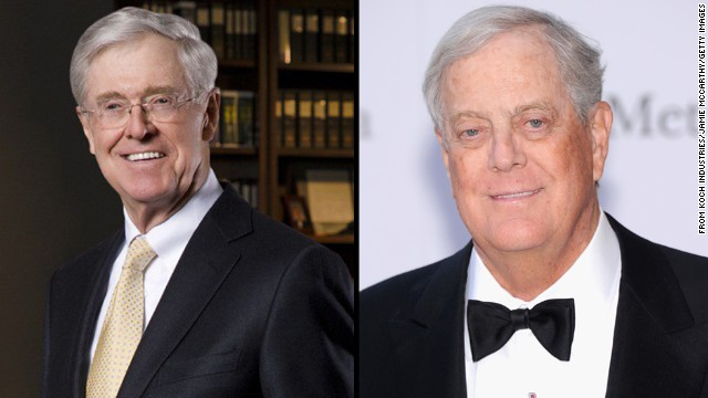 Which donors are attending Koch brothers' winter meeting?