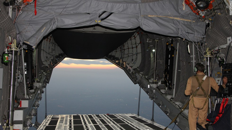 With the payload doors open flying around 12,000 feet above the United Arab Emirates.