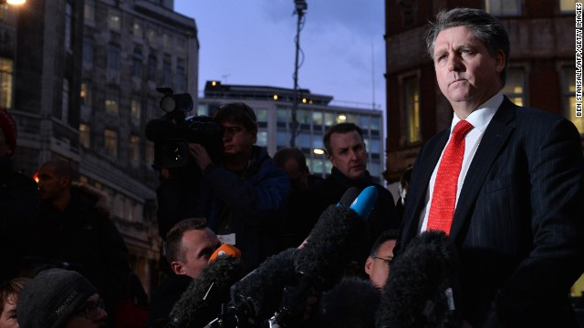 Detective Inspector Kevin Hyland addresses the media outside New Scotalnd Yard in London on November 21, 2013, during a press meet concerning the rescue of three women believed to have been held as slaves for 30 years in a South London house.