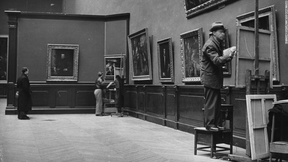 "Here, copyists in 1947 continue the great tradition. ""You spend so much time in front of this painting, that little by little you understand what's in it -- how he did it, the people in it, the historical context,"" said Avrillier."