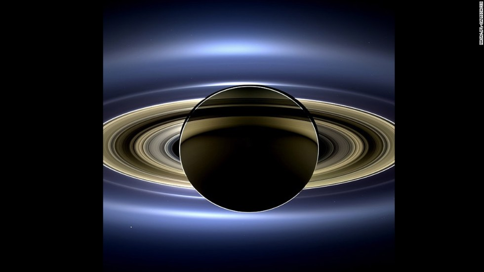 "This one went viral too: <a href=""http://www.cnn.com/2013/11/13/us/nasa-saturn-earth-picture/"">a new view of Saturn</a> taken by NASA's Cassini spacecraft. It's a natural color image that shows the view as it would be seen by a human observer."
