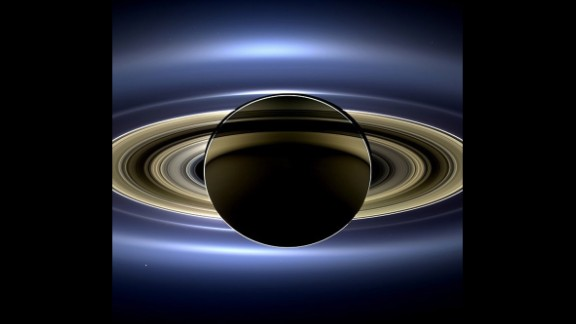 This one went viral too: a new view of Saturn taken by NASA's Cassini spacecraft. It's a natural color image that shows the view as it would be seen by a human observer.