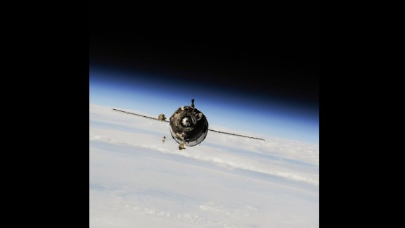 A Soyuz spacecraft carrying new International Space Station residents Oleg Kotov, Mike Hopkins and Sergey Ryazanskiy arrives at the space station in September.