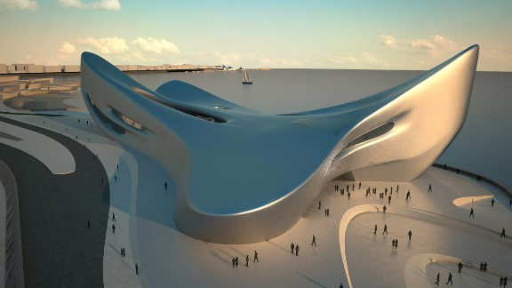 Regium Waterfront  in Reggio Calabria, southern Italy, draws inspiration from the symmetry of a starfish. Its smooth, curving structure will house the Museum of Mediterranean History. Completion is planned for 2015.