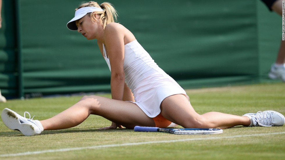 Sharapova injured her hip at Wimbledon in a nasty fall and was upset by qualifier Michelle Larcher de Brito in the second round.