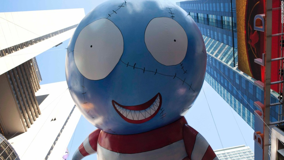 <strong>B. Boy (2011):</strong> B, designed by film director Tim Burton, floats in 2011.