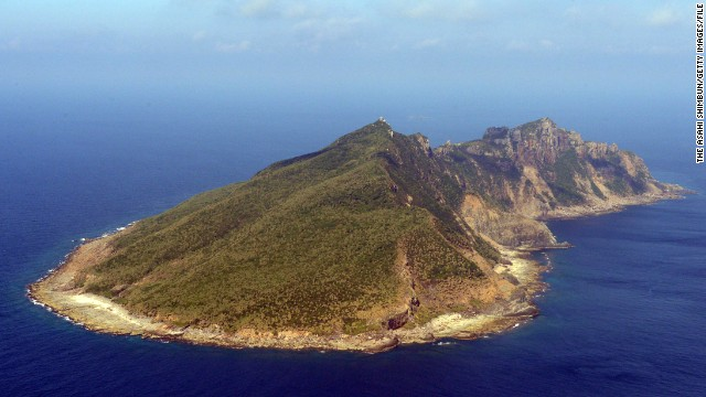 An aerial photo of Uotsuri Island, one of the disputed Senkaku Islands, also known as the Diaoyu Islands, on September 7, 2013.