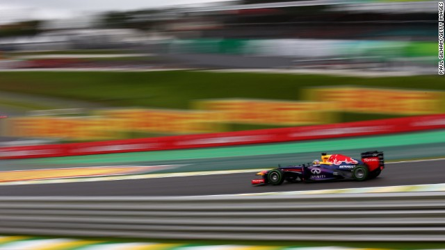 Despite wet conditions, Sebastian Vettel easily finished fastest in qualifying for the Brazilian Grand Prix.