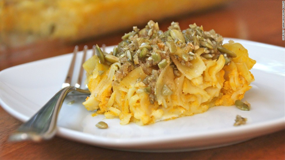 The pumpkin kugel is a bit untraditional but perfect for Thanksgivukkah, say some American Jews.