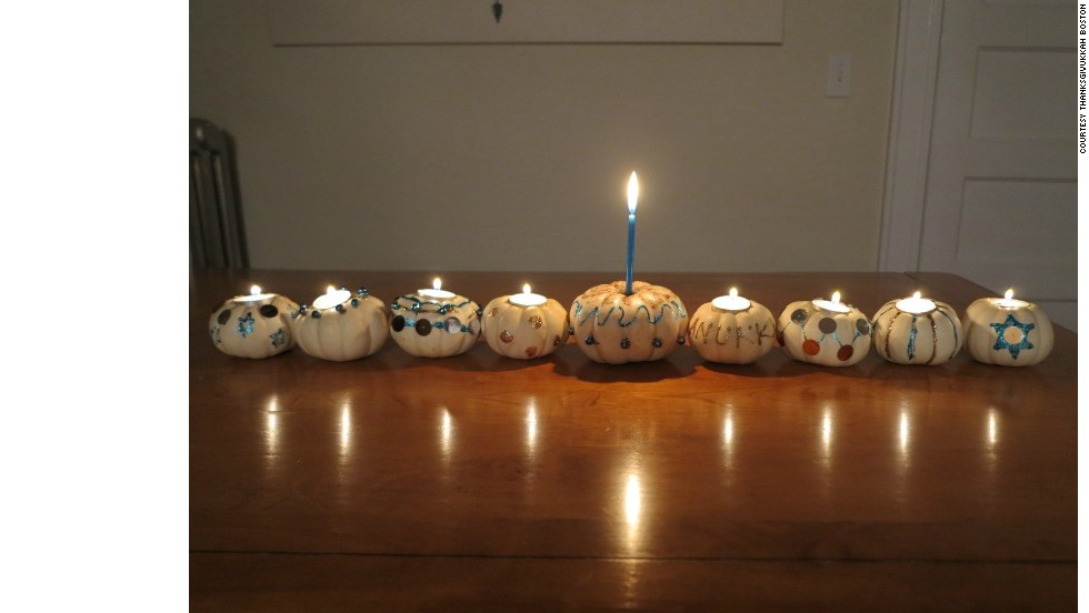 Can't get a menurkey? Try a pumpkin menorah then, says Kali Brodsky of JewishBoston.com.