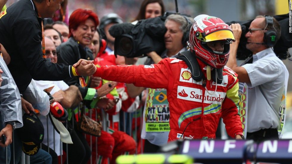 Felipe Massa said farewell to Ferrari with a battling seventh place after a drive through penalty in Brazil.