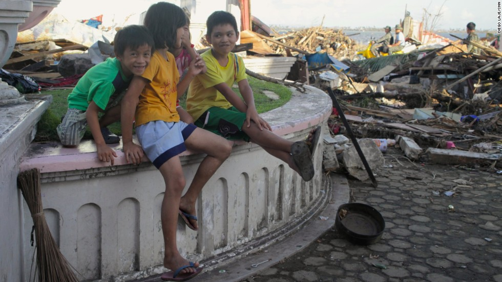 An estimated 4.6 million children have been affected by Typhoon Haiyan, according to Save the Children. Many remain out of school, and are potentially vulnerable to abuse and exploitation, the charity says.