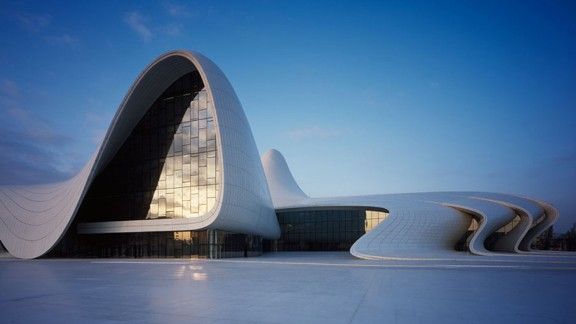 Heydar Aliyev Cultural Center in Azerbeijan's capital, Baku, is all sensual folds and soft lines. Situated on the main road into the city, its balletic shape turns heads of locals and tourists alike.