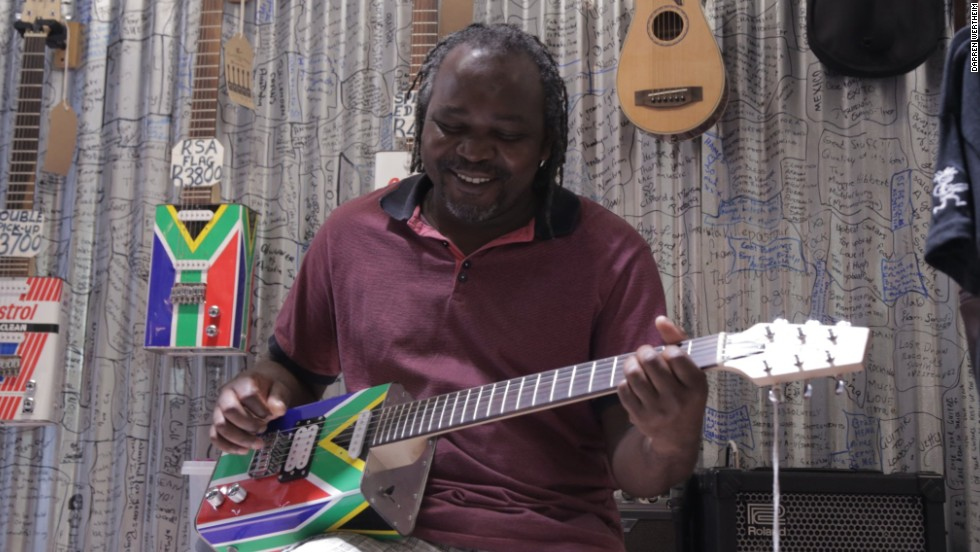 A South African company is repurposing oil cans to create fully-functional electric guitars.