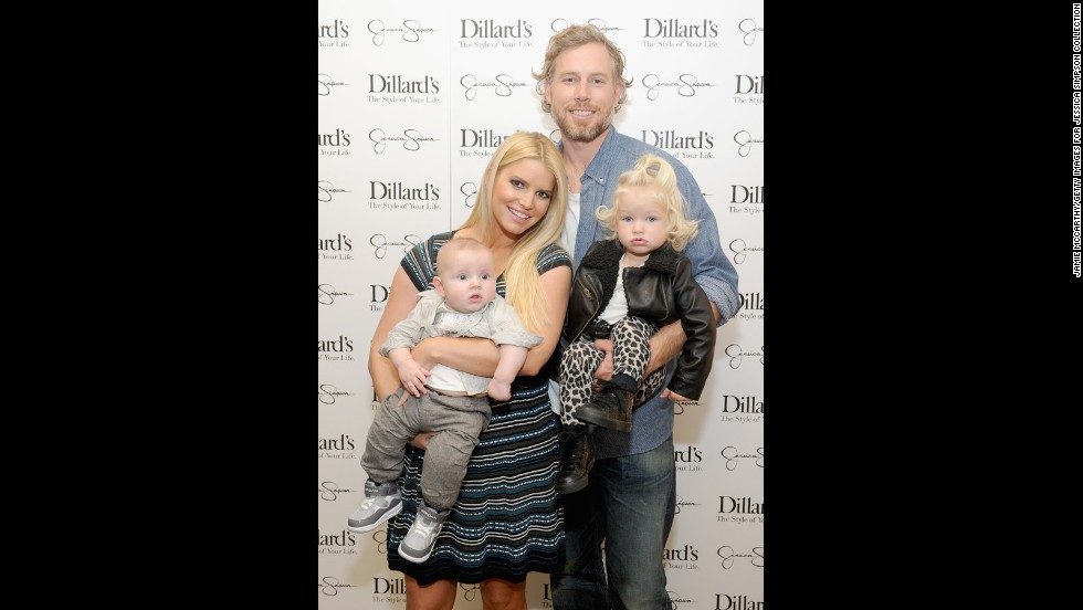 Jessica Simpson brings the whole family out for a Jessica Simpson Collection event at Dillard's in Dallas, Texas on November 23.