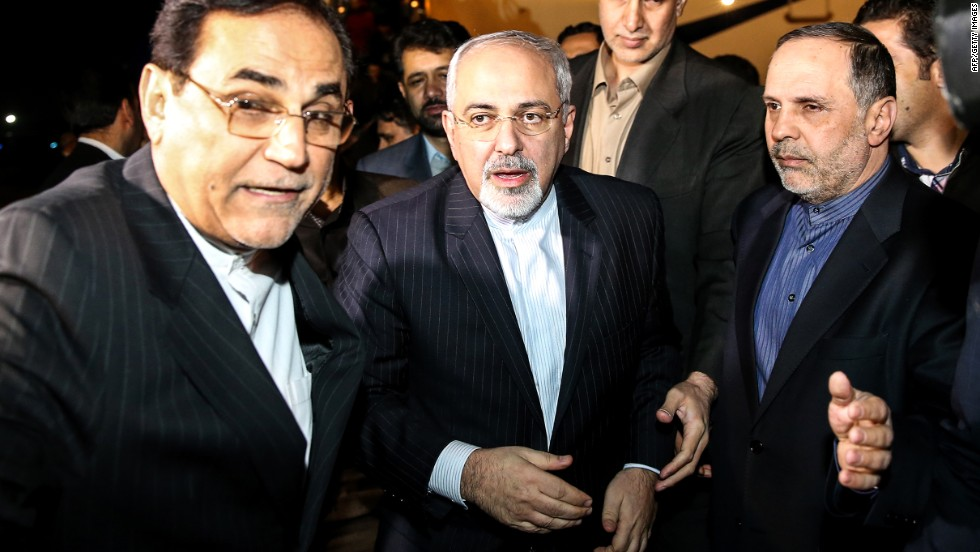 Iranian Foreign Minister Mohammad Javad Zarif returns to Tehran's Mehrabad Airport on November 24 following the Geneva talks.