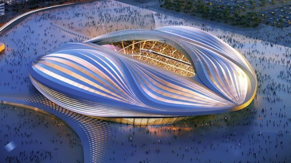 """Hadid's firm is also behind the 2020 World Cup stadium in Qatar. """"The local Al Wakrah football team has been consulted throughout the design development by the client, as they will be the users of the stadium for generations after the 2020 Qatar World Cup,"""" said Heverin."""