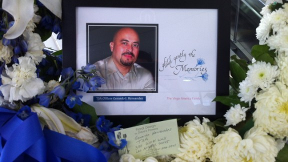 Gerardo Hernandez was shot dead while working at LAX.