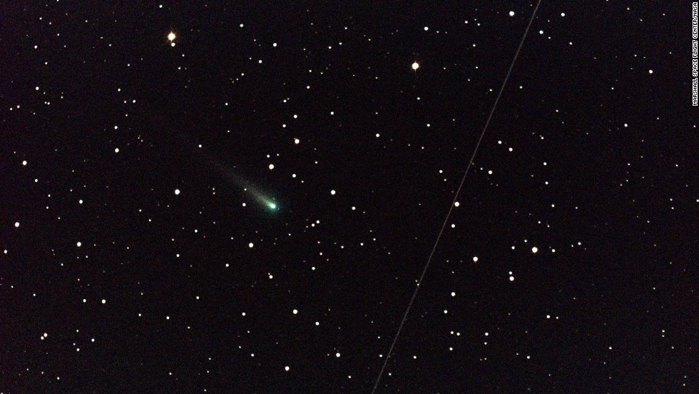 Comet ISON, which was brightening as it approached the sun, is shown here on October 25.