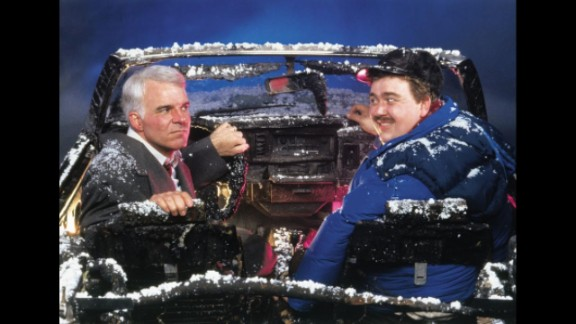 """Not only is Steve Martin's character, Neal Page, stranded in """"Planes, Trains and Automobiles,"""" but he's stranded alongside the annoying salesman Del Griffith (John Candy). The duo suffer a series of misadventures together -- including a robbery, endless fights and a destroyed rental car -- while trying to make it home. The journey ends on a bit of high note but with what is surely one of the most heartbreaking Thanksgiving moments ever seen onscreen."""