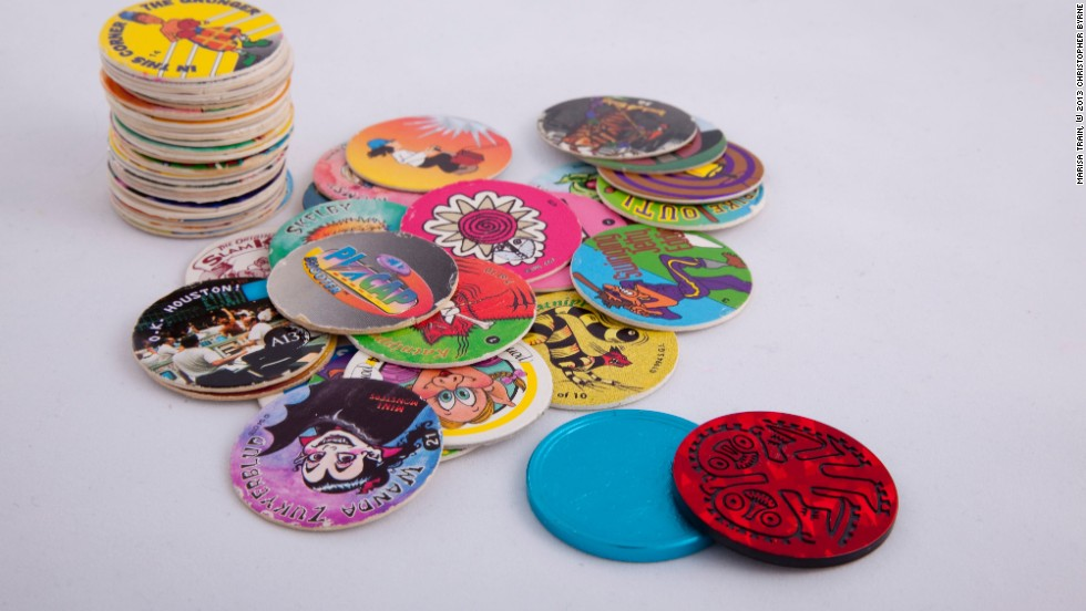 POGs started in Hawaii as seals for glass bottles of passion fruit-orange-guava juice (hence the name) and became a novelty item among kids who turned them into games and collectibles. When the craze spread to the mainland United States, it didn't last long, thanks to school bans. But for a while, everyone had POGs, and POGS were used to promote just about everything, from movies and sports to substance abuse campaigns, fueling the craze, Byrne says.