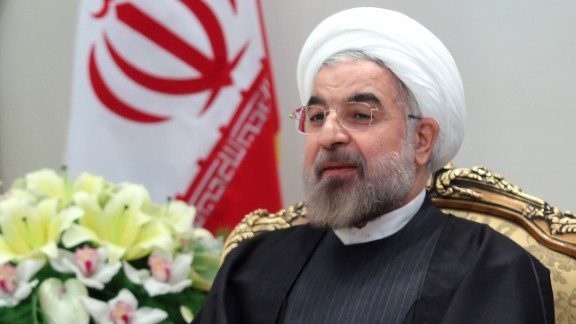 Iranian President Hassan Rouhani in Tehran on November 9, 2013.