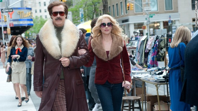 "Will Ferrell and Christina Applegate reprise their ""Anchorman"" roles in the sequel ""Anchorman 2: The Legend Continues."""